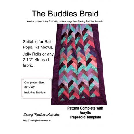 Buddies Braid 2 1/2 Inch Strip Fabric Pattern a.k.a. Jelly Roll Pattern 2 Sewing Buddies Australia