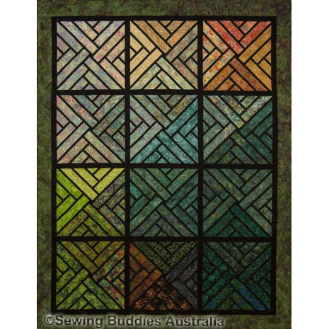 Fractured Paint Box  Quilt Pattern by Judy Niemeyer
