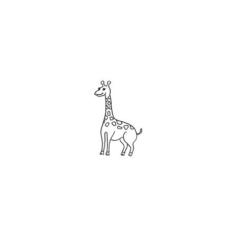 Giraffe small #30378 by Full Line Stencils