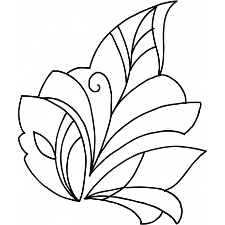 Modern Leaf #70001 by Full Line Stencils