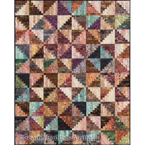 Split Log Cabin Quilt Pattern by Judy Niemeyer 2 Sewing Buddies Australia