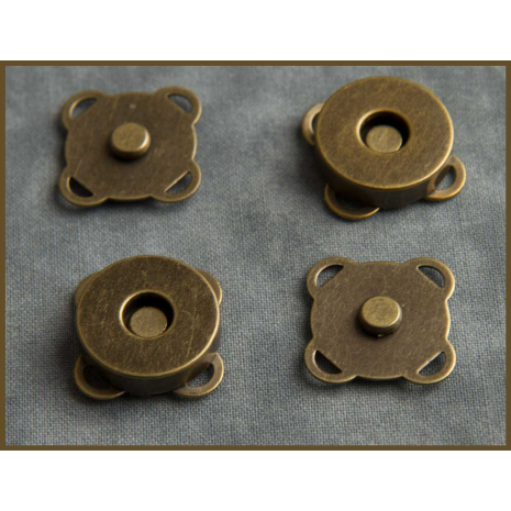 Spoke Magnetic Closure for Bags 18mm Antique Brass, Gold, Chrome and Gun Metal Sewing Buddies Australia