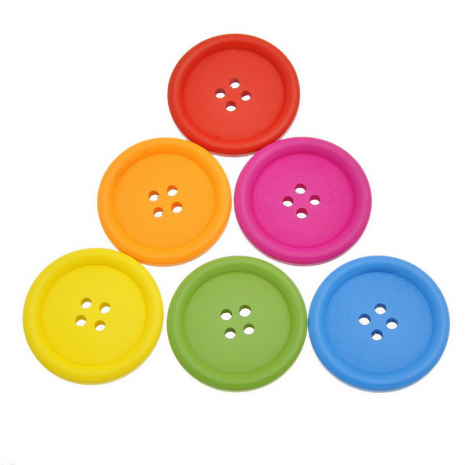 40mm Wooden Buttons Colours Available