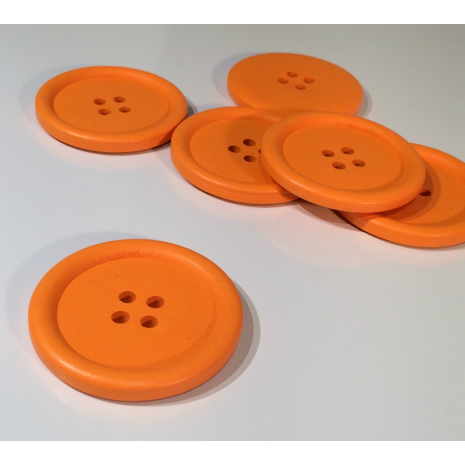 Orange Painted 40 mm x 3 Buttons