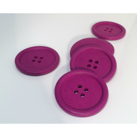 Purple Painted 40 mm x 3 Buttons