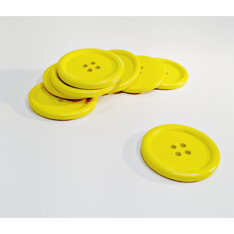 Yellow Painted 40 mm x 3 Buttons