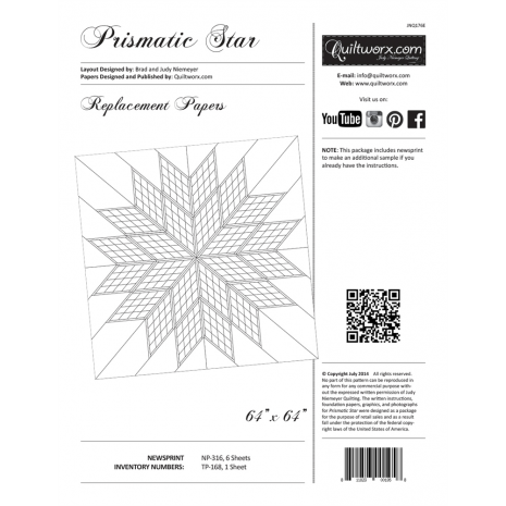Prismatic Star Extra Foundation Papers by Judy Niemeyer