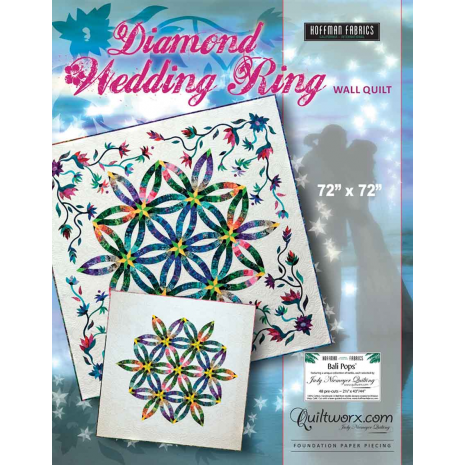 Diamond Wedding Ring Wall Quilt Pattern by Judy Niemeyer