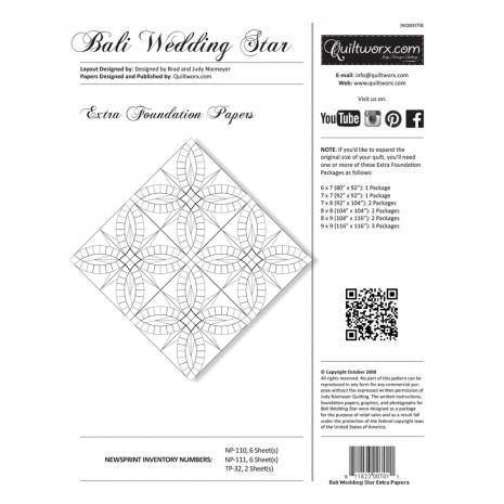 Bali Wedding Star Extra Foundation Papers by Judy Niemeyer