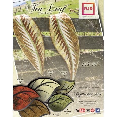 Tea Leaf Table Runner Pattern Judy Niemeyer