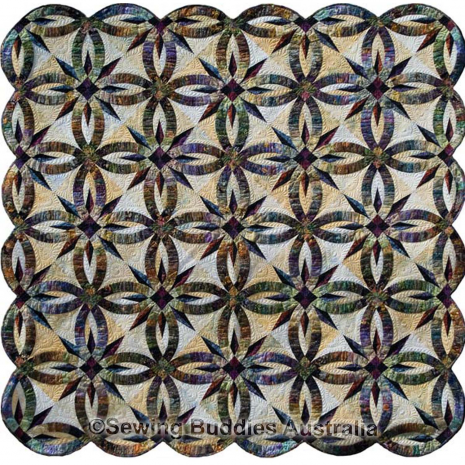 Bali Wedding Star Quilt Pattern Colour 1