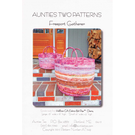 Free Port Gatherer bag by Aunties Two Patterns ~ Jelly Roll Friendly