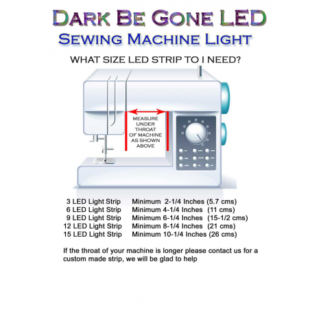 Dark Be Gone LED Under Throat Strip Only 4 Sewing Buddies Australia