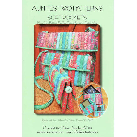 Soft Pockets bag by Aunties Two Patterns ~ Jelly Roll Friendly
