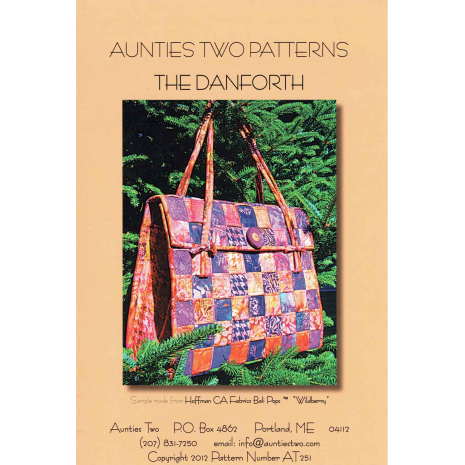 The Danforth Bag by Aunties Two Patterns ~ Jelly Roll Friendly