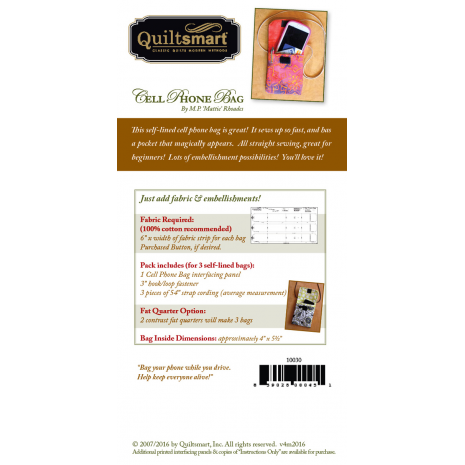 Back Cover Mobile (Cell) Phone Bag Fun Pack by Quiltsmart