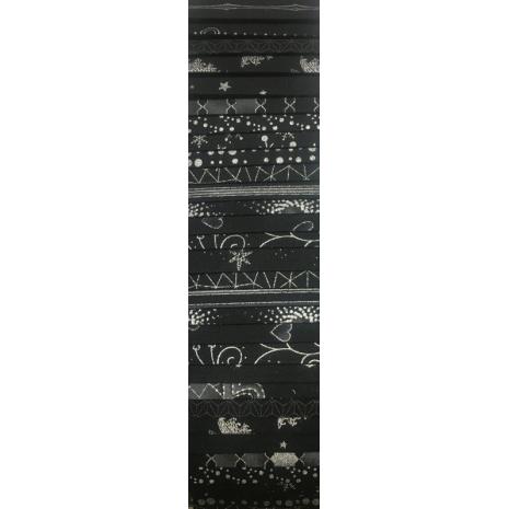 Black and Silver Rainbow aka Jelly Roll Sewing Buddies Australia