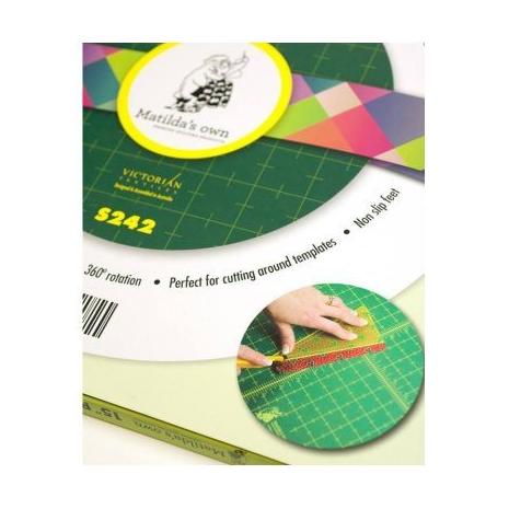 "Self Healing Rotating Cutting Mat (Round 15"" 38 cms) 3 Sewing Buddies Australia"