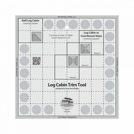 Creative Grids Log Cabin Trim Tool Ruler - 8in finished block - Sewing Buddies Australia