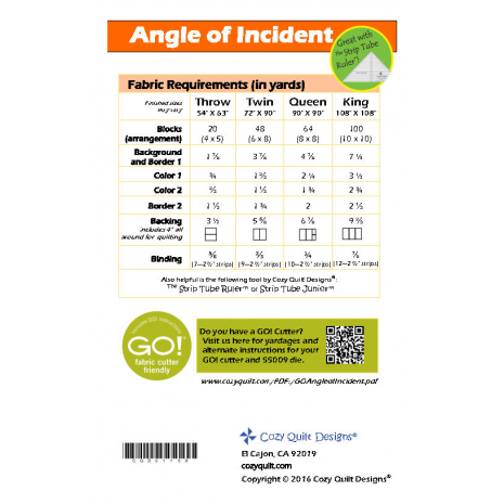 Angle of Incident Pattern by Cozy Quilt Designs 2 Sewing Buddies Australia