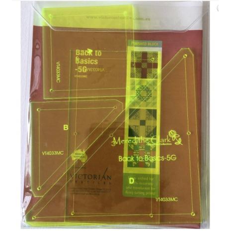 Back To Basics 5G Patchwork Template Set - Matilda's Own - Sewing Buddies Australia