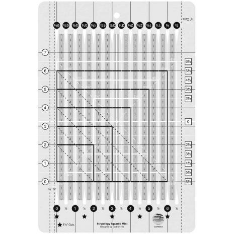 Creative Grids Stripology Mini Quilt Ruler - Sewing Buddies Australia