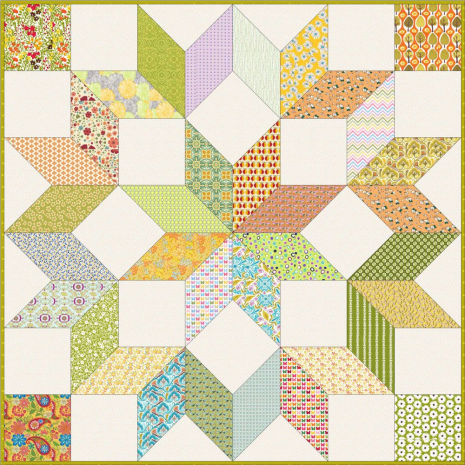 """Carpenters Wheel 18"""" Patchwork Template Meredithe Clark Signature Collection 5 Sewing Buddies Australia"""