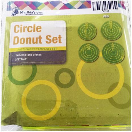 Circle Donut Patchwork Template Set Matilda's Own - Sewing Buddies Australia