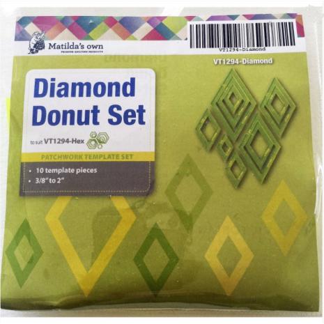 Diamond Donut Patchwork Template Set Matilda's Own - Sewing Buddies Australia
