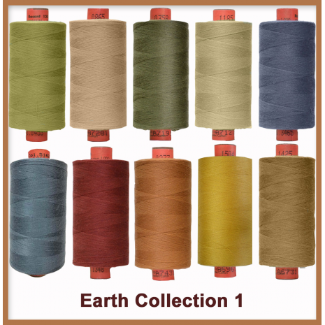 Earthy Toned 10 Colour Set 1 Rasant Thread 1000M Sewing Buddies Australia