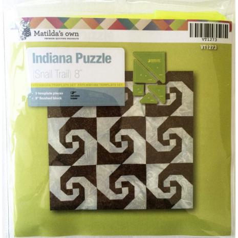 Indiana (Snail Trial) Patchwork Template Set Matilda's Own 5 Sewing Buddies Australia