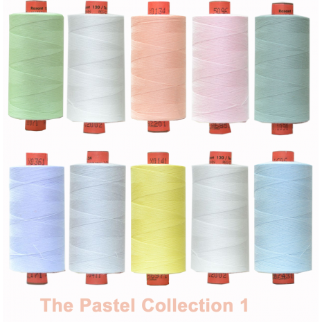 Pastels 10 Colour Set 1 Rasant Thread 1000M Sewing Buddies Australia