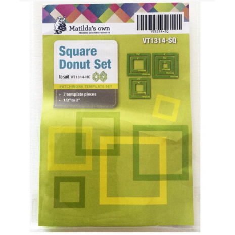 Square Donut Patchwork Template Set Matilda's Own - Sewing Buddies Australia