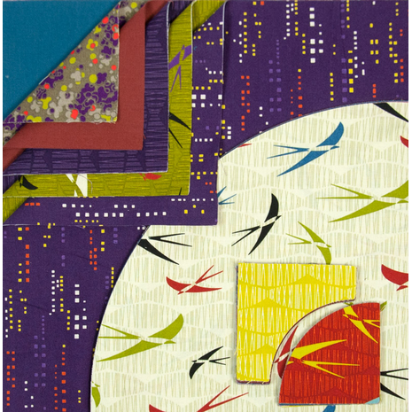Drunkards Path Pre-Cut Quilt Kit - Purple Serenity Sewing Buddies Australia