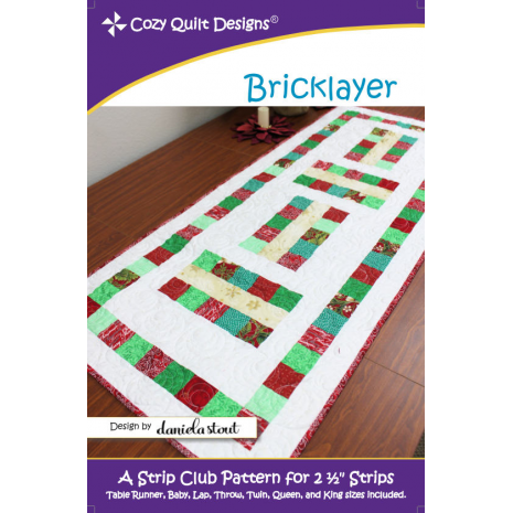 Bricklayer Pattern by Cozy Quilt Designs Sewing Buddies Australia