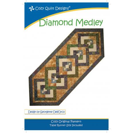 Diamond Medley Pattern by Cozy Quilt Designs Sewing Buddies Australia