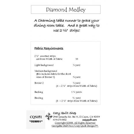 Diamond Medley Pattern by Cozy Quilt Designs 2 Sewing Buddies Australia