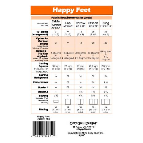 Happy Feet Pattern by Cozy Quilt Designs 2 Sewing Buddies Australia