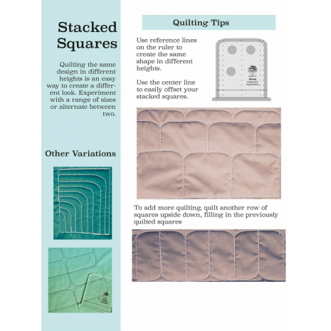 Shorty Creative Grids Non-Slip Free Motion Quilting Tool / Ruler SEE VIDEO 7 Sewing Buddies Australia