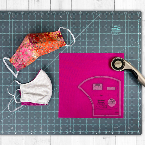 Creative Grids Facemask Template - See Video 5 Sewing Buddies Australia