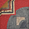 Drunkards Path Pre-Cut Quilt Kit - Red with Beige and Grey Sewing Buddies Australia