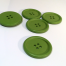 Painted Wood Button Colour Green 40MM