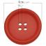40mm Wooden Buttons Coloured Hole Measurement