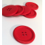 Red Painted 40 mm x 3 Buttons Sewing Buddies Australia