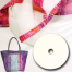 """Anything Goes Bag by Aunties Two Patterns ~ Uses 1 1/2"""" Strips of Batting"""