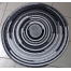 """Round Rug for the Buddies Easy 2 1/2"""" Strip Rug Pattern"""