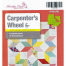 """Carpenters Wheel 18"""" Patchwork Template Meredithe Clark Signature Collection Sewing Buddies Australia"""