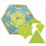 Curved Star Hexagon Patchwork Template - Meredithe Clark 2 Sewing Buddies Australia