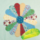 """Curved Dresden Plate 4"""" - 9"""" Patchwork Template ~ Matilda's Own"""