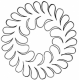 """Feather Wreath 5"""" #30342   by Full Line Stencils by Full Line Stencils"""